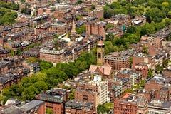 Lucht mening van Boston Royalty-vrije Stock Afbeeldingen
