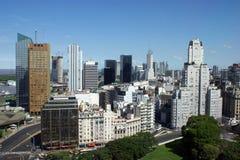 Lucht mening van Buenos aires van de binnenstad Stock Afbeeldingen