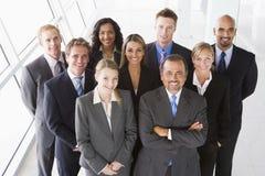 Lucht mening van bureaupersoneel Stock Foto