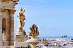Lucht mening van Cadiz, Spanje royalty-vrije stock foto
