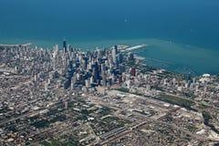 Lucht mening van Chicago Royalty-vrije Stock Afbeelding