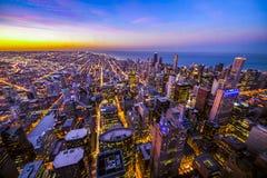 Lucht mening van Chicago de stad in Royalty-vrije Stock Foto