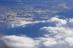 Lucht mening van cloudscape Royalty-vrije Stock Foto's