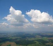 Lucht mening van Cumulus Royalty-vrije Stock Foto
