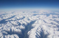 Lucht mening van de Alpen Royalty-vrije Stock Fotografie