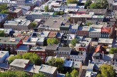 De oude huizen van de Stad van Quebec Royalty-vrije Stock Foto