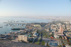 Lucht mening van de stad van Arica, Chili Royalty-vrije Stock Afbeelding