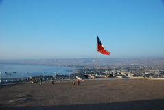 Lucht mening van de stad van Arica, Chili Stock Fotografie