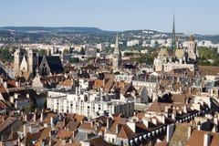 Lucht mening van de stad van Dijon in Frankrijk Stock Afbeelding