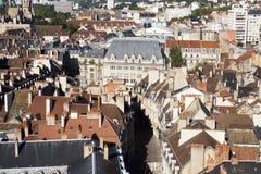 Lucht mening van de stad van Dijon in Frankrijk Stock Foto's