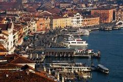 Lucht mening van de stad van Venetië royalty-vrije stock fotografie