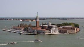 Lucht mening van de stad van Venetië Stock Fotografie