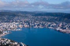 Lucht Mening van de Stad van Wellington Royalty-vrije Stock Foto