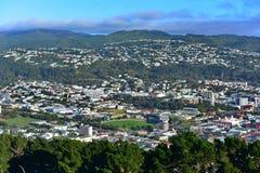 Lucht Mening van de Stad van Wellington Royalty-vrije Stock Fotografie