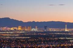 Lucht mening van de strook van Las Vegas stock foto