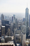 Lucht Mening van de Weg van Michigan in Chicago Stock Foto's