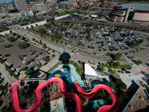 Lucht mening van Denver Royalty-vrije Stock Foto's