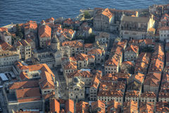 Lucht mening van Dubrovnik Royalty-vrije Stock Foto's