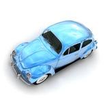Lucht mening van een Europese blauwe uitstekende auto Royalty-vrije Stock Foto