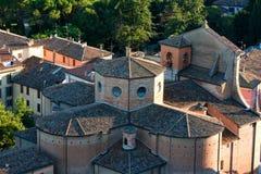 Lucht mening van een medioeval kerk Royalty-vrije Stock Fotografie
