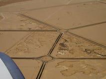 Lucht Mening van een rotonde in de woestijn royalty-vrije stock foto's