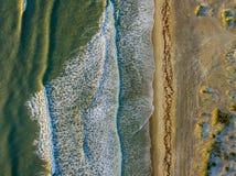 Lucht mening van een strand Stock Fotografie