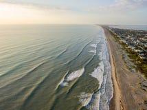Lucht mening van een strand Royalty-vrije Stock Afbeeldingen