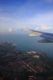Lucht mening van een vliegtuig Royalty-vrije Stock Foto
