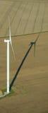 Lucht mening van een windturbine Royalty-vrije Stock Afbeelding