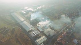Lucht mening van fabriek stock footage