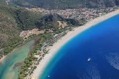 Het strand van Fethiye Stock Afbeeldingen