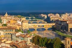 Lucht Mening van Florence royalty-vrije stock foto's