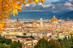 Lucht Mening van Florence Stock Foto's