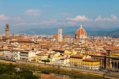 Lucht Mening van Florence Stock Fotografie