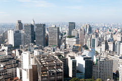 Lucht mening van gebouwen in Sao Paulo. Stock Fotografie