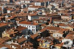 Lucht mening van gebouwen in Venetië, Italië Stock Afbeelding