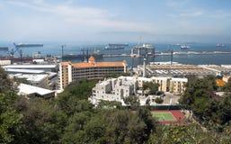 Lucht mening van Gibraltar stock foto