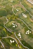 Lucht mening van golfcursus Royalty-vrije Stock Fotografie