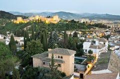 Lucht mening van Granada Stock Afbeeldingen