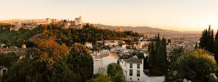 Lucht mening van Granada Royalty-vrije Stock Afbeelding