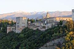 Lucht mening van Granada Royalty-vrije Stock Afbeeldingen