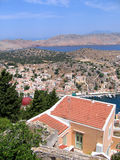 Lucht mening van Griekse stad Royalty-vrije Stock Afbeelding