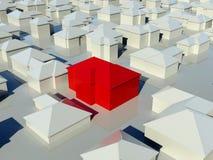 Lucht mening van groep huizen stock illustratie