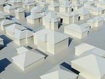 Lucht mening van groep huizen vector illustratie