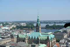 Lucht mening van Hamburg Royalty-vrije Stock Fotografie