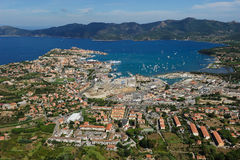d'Elba van Isola - haven Portoferraio Royalty-vrije Stock Afbeelding