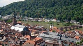 Lucht mening van Heidelberg Royalty-vrije Stock Afbeeldingen