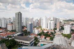 Lucht mening van het centrum van Sao Paulo Stock Foto's
