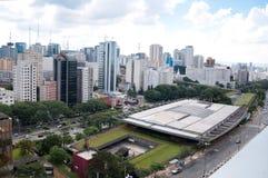 Lucht mening van het culturele centrum van Sao Paulo Stock Foto