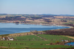 Lucht mening van het landschap van het otmuchowmeer Royalty-vrije Stock Afbeeldingen